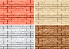 Vector Set Of Cartoon Brick Wall Royalty Free Stock Image