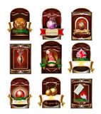 Vector Set Of Christmas Tags Labels Royalty Free Stock Photography