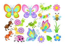 Free Vector Set Of Cute Cartoon Bugs Stock Image - 77802771