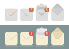 Free Vector Set Of Envelopes For E-mails Stock Photos - 53568743