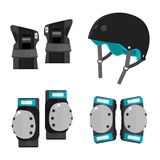 Vector Set Of Flat Roller Skating Protective Gear Royalty Free Stock Photo