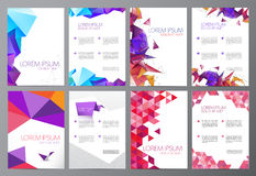 Free Vector Set Of Flyers, Brochures Abstract Design 2 Royalty Free Stock Photography - 61693307