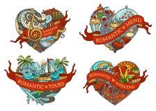 Vector Set Of Four Hearts. Royalty Free Stock Photos