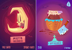 Vector Set Of Halloween Illustrations Royalty Free Stock Images