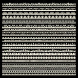 Vector Set Of Lace Trims Royalty Free Stock Photos