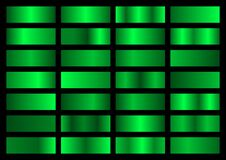 Free Vector Set Of Neon Green Metallic Gradients, Swatches Collection, Shiny Gradient Set On Black Background Stock Photo - 174872940