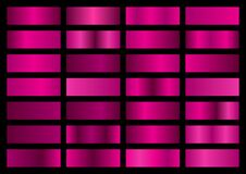 Free Vector Set Of Pink Metallic Gradients, Swatches Collection, Shiny Gradient Set On Black Background Royalty Free Stock Image - 174872936