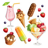 Vector Set Of Stylized Food Icons. Royalty Free Stock Photo