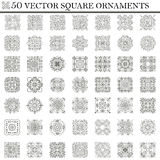 Vector Set Of Symbols. Abstract Square Ornament. Decorative Retr Stock Images