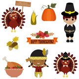Vector Set Of Thanksgiving Icons Royalty Free Stock Photo