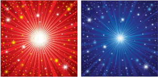 Vector set ofChristmas background with stars Stock Photo
