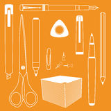 Vector set of office equipment Stock Photography