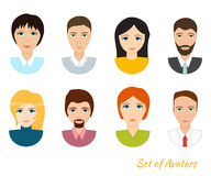 Vector set of office team icons. Set of office team icons, male and female characters, vector illustration isolated on white Royalty Free Stock Images