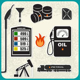 Vector Set of oil icons Royalty Free Stock Photo