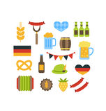 Vector set with oktoberfest elements Royalty Free Stock Photography