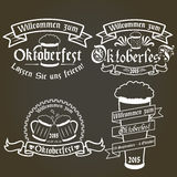 Vector set of oktoberfest labels, design elements Stock Images