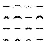 Vector set of old vintage mustache Royalty Free Stock Photo