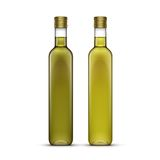 Vector Set of Olive or Sunflower Oil Glass Bottles Stock Image