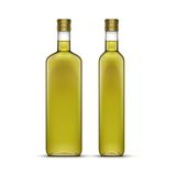 Vector Set of Olive or Sunflower Oil Glass Bottles. Isolated on White Background Stock Photo