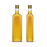 Vector Set of Olive or Sunflower Oil Glass Bottles Royalty Free Stock Image