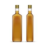 Vector Set of Olive or Sunflower Oil Glass Bottles. Isolated on White Background Royalty Free Stock Photos