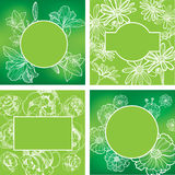 Vector set of organic natural frames Royalty Free Stock Images