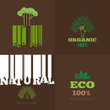 Vector set or organic signs and logo design elements - eco and b Royalty Free Stock Image