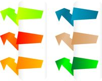 Vector set of origami paper banners Royalty Free Stock Images