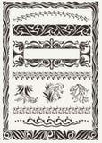 Vector set: original design frames Royalty Free Stock Images