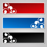 vector set of ornament banners Royalty Free Stock Photos