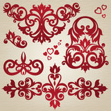 Vector set with ornament in Victorian style. Royalty Free Stock Photo
