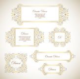 Vector set ornamental  decorative frame. Stock Photos