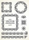 Vector set of ornamental elements. Stock Image