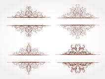 Vector set of ornamental frames. Vector set of hand drawn ornamental frames Royalty Free Stock Photography