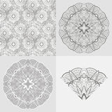 Vector set: ornamental round background, seamless  Stock Photography