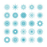 Vector set of ornamental snowflakes Royalty Free Stock Photography