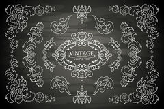 Vector set of ornaments, design elements, floral Royalty Free Stock Photography
