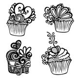Vector Set of Ornate Cakes. Royalty Free Stock Photo