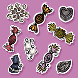 Vector Set of Ornate Candies Royalty Free Stock Images