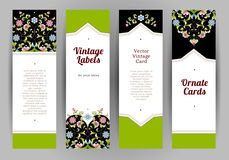 Vector set of ornate cards in Eastern style. Stock Image