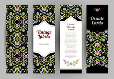 Vector set of ornate cards in Eastern style. Stock Images
