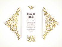 Vector set of ornate frame in Eastern style. Stock Photo