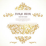 Vector set of ornate frame in Eastern style. Royalty Free Stock Image