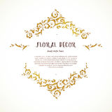 Vector set of ornate frame in Eastern style. Royalty Free Stock Photos