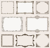 Vector set. Ornate frames and vintage scroll elements Royalty Free Stock Photo