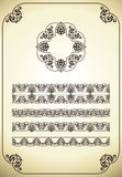 Vector set of ornate page decor elements Royalty Free Stock Photos