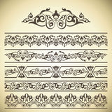 Vector set of ornate page decor elements Stock Photography