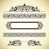 Vector set of ornate page decor elements Stock Image