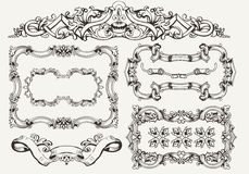 Vector set: ornate vintage frames Stock Images
