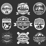 Vector set of outdoor adventure labels, emblems vector illustration